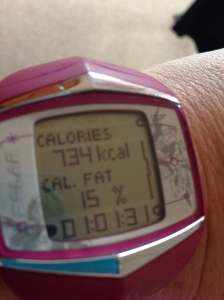 Second calorie burn of the day